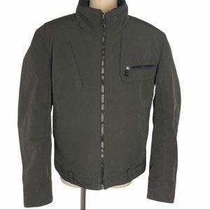 BOSS Hugo Boss Men's Casual Khaki Full Zip Front Lined Jacket Size 40R EUC